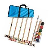 Wooden Croquet Set Carrying Case Trademark Yard Games Easy