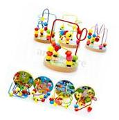 Baby Kids Wooden Educational Walking Beads Maze Toddler