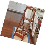 Wooden Folding Step Ladder Solid Wood Home Library Kitchen