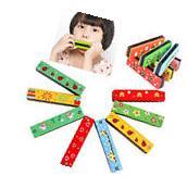 Wooden Kids Children Harmonica Musical Instrument Puzzle
