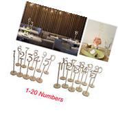 20pcs 1-20 Wooden Table Numbers with Holder Base for Wedding
