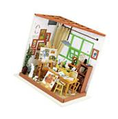 Robotime Wooden Miniature Dollhouse Kits with Furniture DIY
