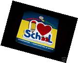 """""""I LOVE  SCHOOL"""" Wooden Pins  GREAT GIFTS/NEW"""
