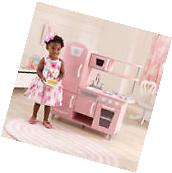 Wooden Play Kitchen Pink KidKraft Vintage For Kids