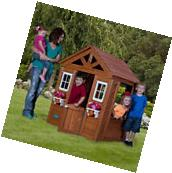 Outdoor Wooden Playhouse Backyard Kids House Family Play