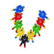 NEW SCHYLLING WOODEN STACKING ROBOTS KIDS BUILDING BLOCKS