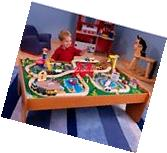 100-Piece Wooden Train Set Thomas and Friends Small Table