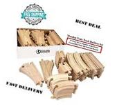 54 Piece Wooden Train Track Builders Set Of Wooden Tracks