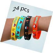 Pokemon Wristband Rubber Bracelet 24 Pieces PCS - Birthday