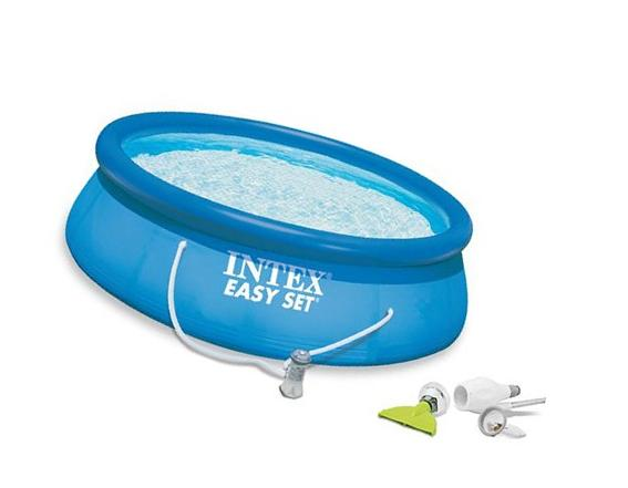 """Intex 15' x 42"""" Easy Set Pool Complete Kit with GFCI & 1000"""