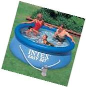 "Intex 8' x 30"" Easy Set Swimming Pool & 330 GPH GFCI Filter"