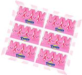 x6 Peeps Marshmallow Candy Easter Bunnies Pink 4 Piece Pack'