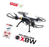 Syma X8W FPV 2.4Ghz Headless RC Qucopter Drone & Battery &