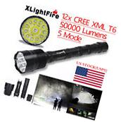 XLightFire 50000 Lumens 5 Mode 12 LED CREE XML T6 18650