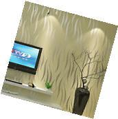 10M Yellow 3D Flocking Stereo Wallpaper Modern Nonwoven
