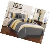 Chezmoi Collection 7-Piece Yellow Gray White Quilted