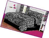 Latitude Zebra Print Complete Bed in a Bag Bedding Set