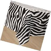 ZEBRA STRIPES PLASTIC TABLE COVER ~ Birthday Party Supplies