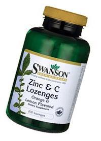 Swanson Zinc & Vitamin C Lozenges 25/100 Milligrams 200