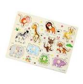 Zoo Animal Wooden Jigsaw Puzzle Toy Children Kids Baby