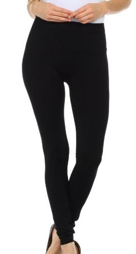 009XE  Basics Solid Color Leggings - Burgandy - One Size