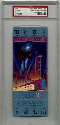 01/30/1983 Super Bowl XVII Full Game Ticket Redskins  Graded