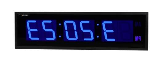DBTech 0124BLU Huge Large Big Oversized Digital LED Clock,