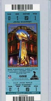 02/03/2013 Super Bowl XVVII Full Game Ticket 49ers Terrace