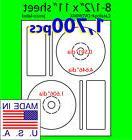 1,700 Memorex Compatible CD/DVD Labels, Matte White Laser InkJet