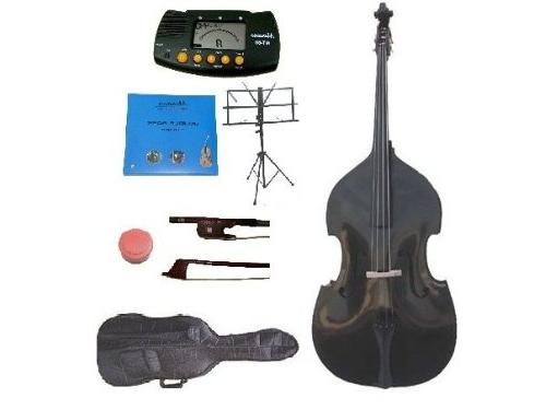 GRACE 1/2 Size Black Upright Double Bass with Bag,Bow,Bridge