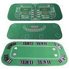 3-in-1 Poker Game Casino Table Top Cover Folding Black Jack