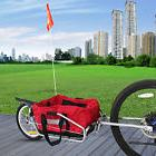 New 2 in 1 Steel Single Wheel Bike Cargo Trailer Luggage Carrier w/Red Bag