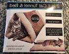 2-in-1 Tunnel Bed and Cat Pet Soft Self-heating Warm Mat