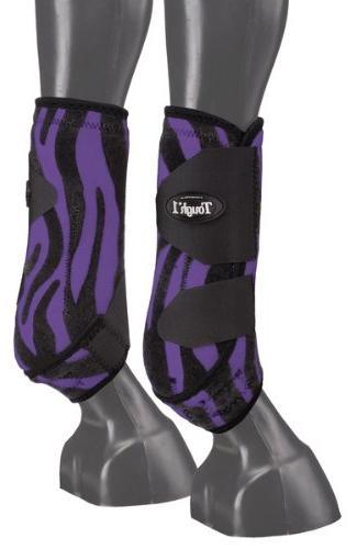 Tough-1 Vented Sport Boots Prints Rear Purple Zebr