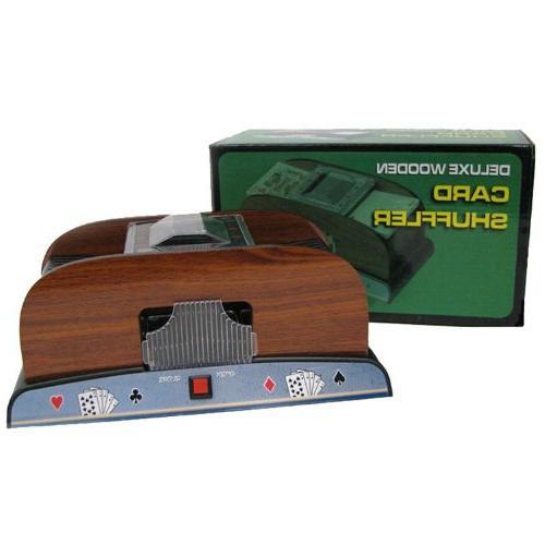Trademark Poker 1-2 Deck Deluxe Wooden Card Shuffler