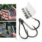 Lot 500Pcs 10 Sizes Black Fishing Hooks Steel Tackles for
