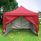Quictent 10'X10'Red Pyramid-roofed EZ Pop Up Party Tent