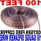 100'ft feet 18 awg ag Gauge Audio Speaker Wire Cable