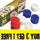 100 Plastic Poker Chips - Red White Blue