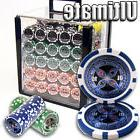 New 1000 Ultimate 14g Clay Poker Chips Set with Aluminum