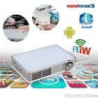 10000:1 1080P Mini Wireless WIFI DLP Projector Android 4.4
