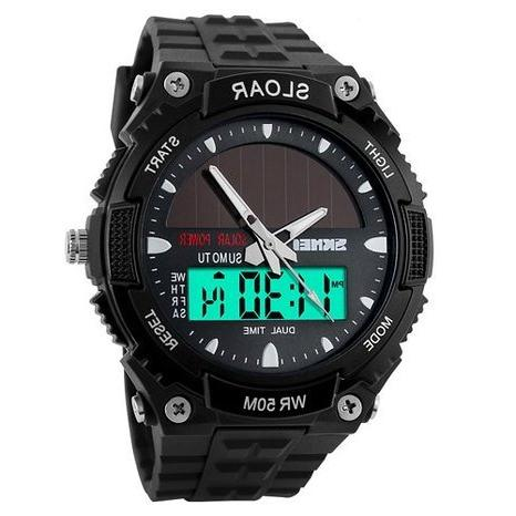 Skmei 1049 Solar Watch Fashion Electronic Double Display