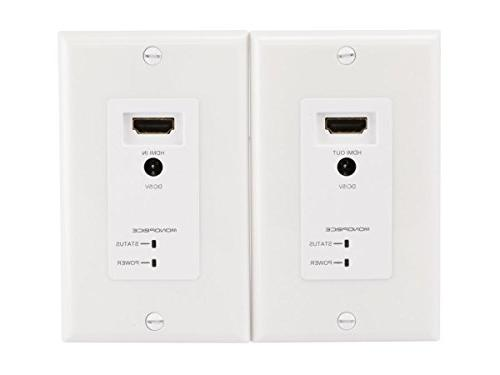 Monoprice 108200 HDMI Over CAT5E/CAT6 Extender Wall Plate