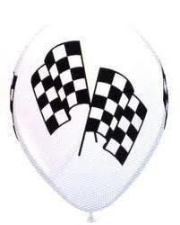 Qualatex Checkered Racing Flags Biodegradable Latex Balloons