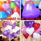 100pcs 12'' Color Heart Shaped Latex Balloons Wedding