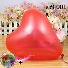 100 PCS 12'' Red Heart Love Latex Balloons Wedding Christmas