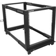 12U Adjustable Depth Open Frame 4 Post Server Rack w/