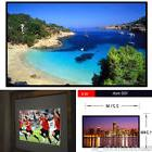 """NEW 100"""" 16:9 HD Projection Screen Fabric Matte White"""