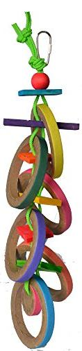 Super Bird Creations 18 by 4-Inch Olympic Rings Bird Toy,
