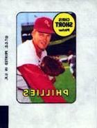 1969 Topps Decals  Card# 40 Chris Short of the Philadelphia